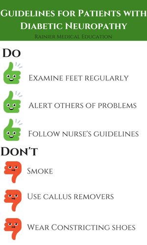 do and don't guidelines for patients with diabetic neuropathy