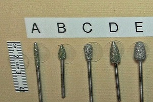 various diamond burrs for toenail sanding
